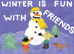 Holiday card design from Kingsway Learning Center.