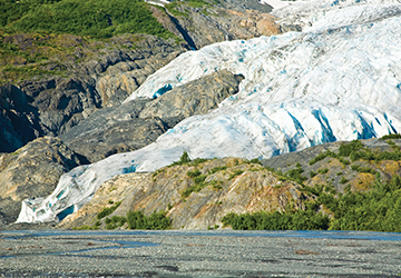 Exit Glacier at Kenai Fjords National Park.