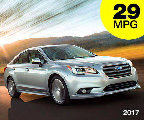 2017 Subaru Legacy AWD 29 mpg combined city/highway
