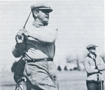 Babe Ruth enjoys a game of golf in Hot Springs