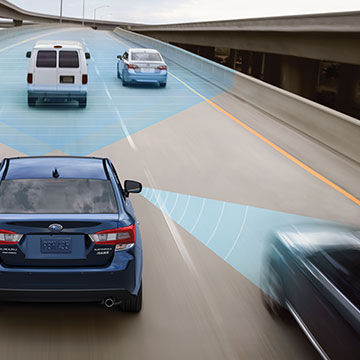 Subaru EyeSight Driver Assist Technology monitors traffic movement, optimizes cruise control and warns you if you sway outside your lane.