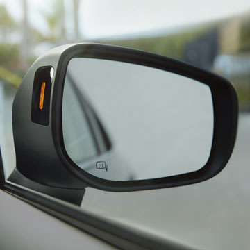 Blind-Spot Detection warns when it senses a vehicle in your blind spots.
