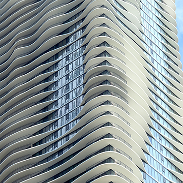 Aqua Tower in Chicago designed by Jeanne Gang.