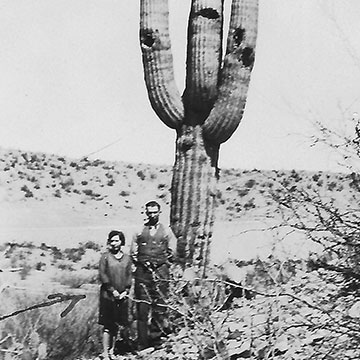 John and Elizabeth Sleep in Saguaro National Park.