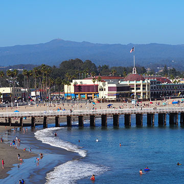 Santa Cruz boardwalk.