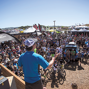 10,000 participants and 70,000 spectators gather at the Subaru Sea Otter Classic in Monterey, California.