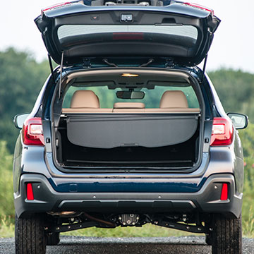 A wide cargo opening with a tall hatch makes loading easy.