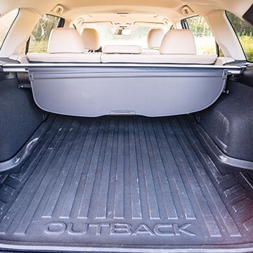 35.5 cubic feet of cargo space with the rear seats occupied.