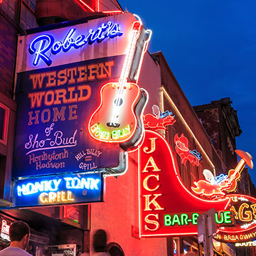 Robert's Western World is a beloved, old-school honky-tonk in Nashville, Tennessee.