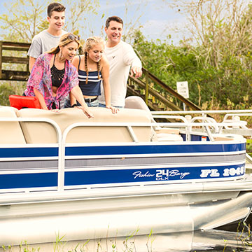 Pontoon boating can bring a family closer to nature.